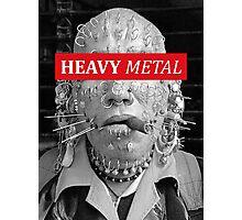 Heavy metal man piercings Photographic Print