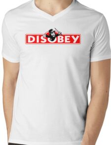 Monopoly Game Parody - Guy Fawkes Disobey Mens V-Neck T-Shirt