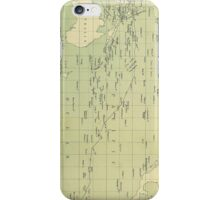 Vintage Map of The Pacific Ocean (1874) iPhone Case/Skin