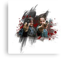Rick and Daryl TWD Canvas Print