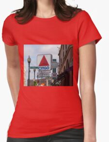Citgo Sign At Fenway Park Womens Fitted T-Shirt