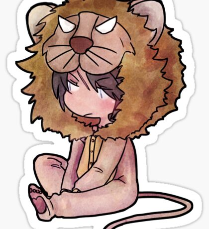 Final Fantasy VIII: Squall chibi (Lion Kigurimi) Sticker