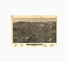 Vintage Pictorial Map of Fitchburg MA (1882) Unisex T-Shirt