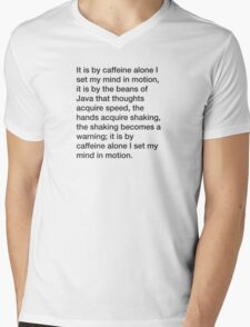 Mentat caffeine credo (large) Mens V-Neck T-Shirt