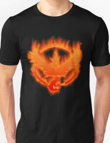 The Fire of Team Valor. Unisex T-Shirt