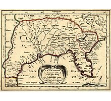Vintage Map of Florida (1657) Photographic Print