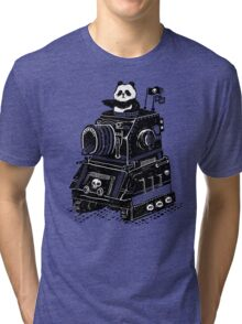Panda's Skull Tank Vintage Style Tri-blend T-Shirt