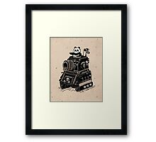 Panda's Skull Tank Vintage Style Framed Print