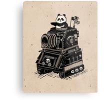 Panda's Skull Tank Vintage Style Metal Print