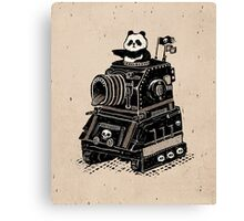 Panda's Skull Tank Vintage Style Canvas Print