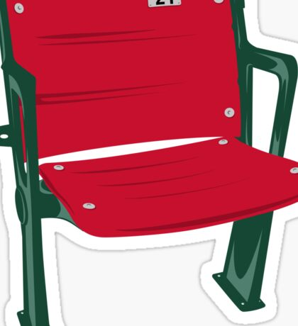 The Lone Red Seat - Red Sox - Fenway Park Sticker