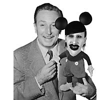 Walt Disney Mickey Marilyn Manson Photographic Print