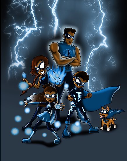 Family of Super Heroes  by treasured-gift