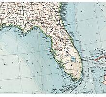Vintage Map of Florida (1900) Photographic Print