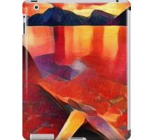 Abstract landscape in red iPad Case/Skin