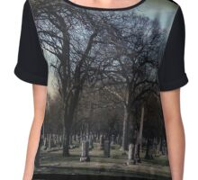 October Graveyard  Chiffon Top