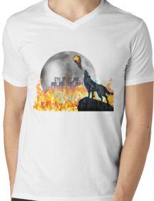 Wolves Mens V-Neck T-Shirt