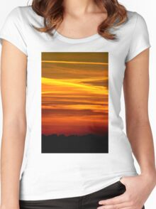 Paint the Sky Gold Women's Fitted Scoop T-Shirt