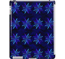 Blue Snowflake Girly Pattern Print iPad Case/Skin