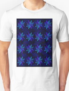 Blue Snowflake Girly Pattern Print Unisex T-Shirt