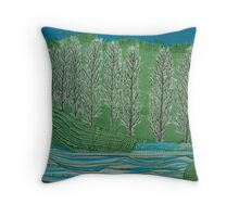 Lombardy Poplar Throw Pillow