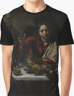 The Supper at Emmaus - Caravaggio Graphic T-Shirt