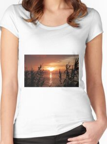 Bermuda Evening Women's Fitted Scoop T-Shirt