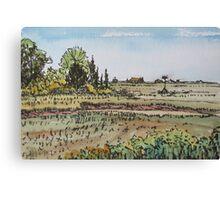 Marsh and Osprey Nesting Platform Canvas Print