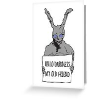 Hello Darkness Greeting Card