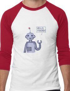 a friendly robot Men's Baseball ¾ T-Shirt