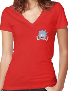 Tiny Rick Pocket Tee Women's Fitted V-Neck T-Shirt