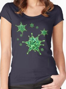 Ukulele Aquisition Syndrome Virus - Green Women's Fitted Scoop T-Shirt