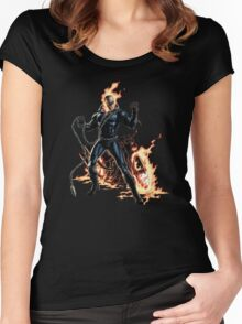 Ghost Rider Marvel Comics Women's Fitted Scoop T-Shirt