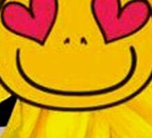 Fun,funny,Sun flower,sunny,kid,kids,smiley,smile,deep blue,yellow,red,green Sticker