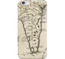 Vintage Map of Florida (1763) 2  iPhone Case/Skin