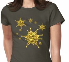 Ukulele Acquisition Syndrome Virus - Yellow Womens Fitted T-Shirt