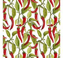 Red peppers pattern Photographic Print