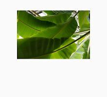 Luscious Tropical Greens - Huge Leaves Patterns - Horizontal View Upwards Left Unisex T-Shirt