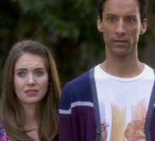 Annie and Abed Sticker