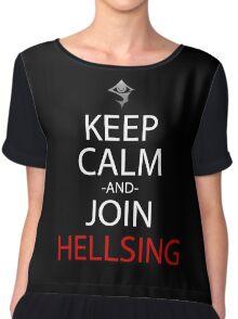 Keep Calm And Join Hellsing Anime Manga Shirt Chiffon Top