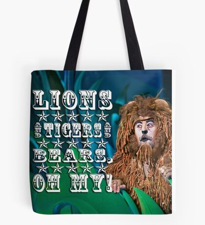 Wizard of Oz-Cowardly Lion Tote Bag