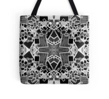 Tate - Created by a Genius (Square/Sym/BW) Tote Bag