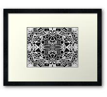 Tate - Created by a Genius (Square/Sym/BW) Framed Print