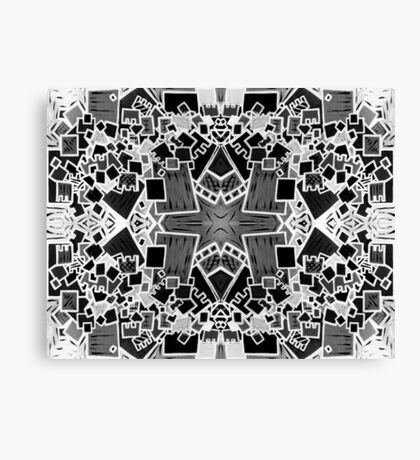 Tate - Created by a Genius (Square/Sym/BW) Canvas Print