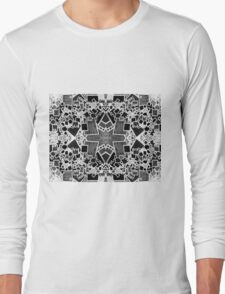 Tate - Created by a Genius (Square/Sym/BW) Long Sleeve T-Shirt