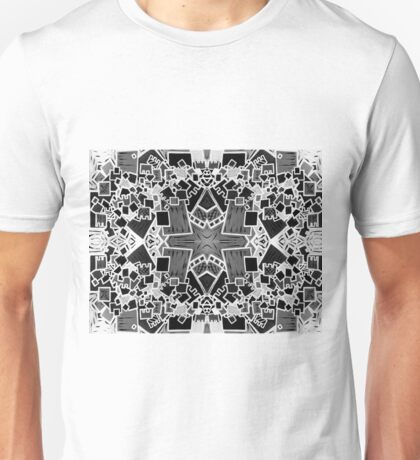 Tate - Created by a Genius (Square/Sym/BW) Unisex T-Shirt