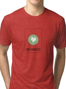 I Love San Francisco Tri-blend T-Shirt