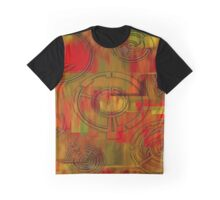 Orange and Rounds Graphic T-Shirt
