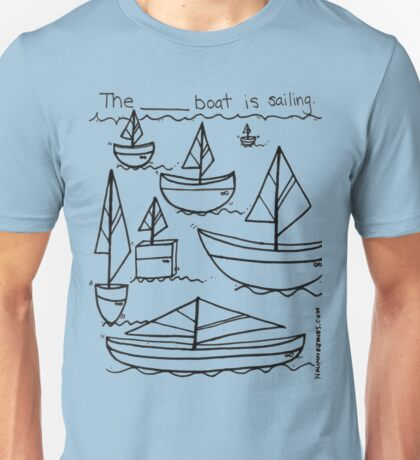Describing Sailboats Doodle Unisex T-Shirt