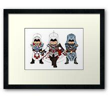 Ezio Auditore da Firenze Chibi Assassin Trio Framed Print
